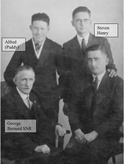 George Bernard Mahon with Alfred William L, Stephen Henry and George Bernard Jr