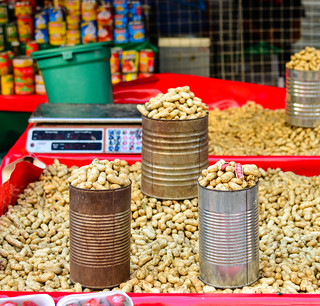 Peanut for sale at market in Manila, Philippines