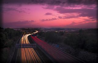 Autopista AP7 al anochecer _DSF2280