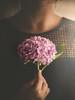 Hydrangea (cristina.g216) Tags: hortensia hydrangea selfportrait autorretrato rosa pink flower flor flare mano hand