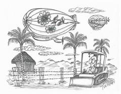 Tushfan (rod1691) Tags: bw scifi grey concept custom car retro space hotrod drawing pencil h2 hb original story fantasy funny tale automotive art illistration greyscale moonpies sketch