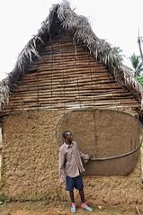 Sierra Leonian house and fishing net