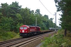 HVLE V330 5 + RDC Triebwagen 4010 (HKX) Wustermark - Delitzsch  - Berlin Kohlhasenbrück (Rene_Potsdam) Tags: hvle v330 blue tiger red berlin kohlhasenbrück railroad hkx br4010 öbb