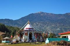 Nandadevi temple with Khaliya top in the background. (draskd) Tags: khaliyatop nandadevitemple munsiyari munsiari pithoragarh uttarakhand india landscape background hill khaliyatoptrek trekking nikon draskd