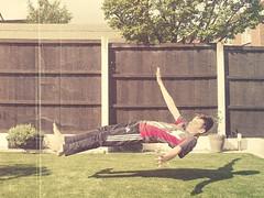 The Art Of Levitation (Retro) (Philip R Jones) Tags: levitation illusion optical ps magic retro aged old creased scannedphotograph hss slider sunday