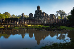 Ancient stone faces of Bayon temple (Patrick Foto ;)) Tags: ancient angkor archeology architecture asia asian bayon buddhism buddhist building cambodia civilization culture famous forest heritage hindu hinduism historic historical history jungle khmer lake landmark monk monument nature old pond prasat reap reflection religion religious ruin sculpture siem stone structure temple thom tourism tourist travel tree unesco wat water worship krongsiemreap siemreapprovince kh