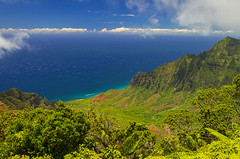 The Kauai Coast (Matt Champlin) Tags: kauai kokeestatepark overlook amazing hawaii travel incredible mountains ocean coast coastline napali napalicoast beautiful exotic blue lush paradise hiking adventure canon 2017