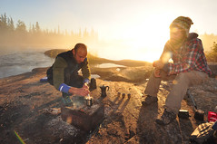 Making Greek Coffee (Fish as art) Tags: camping coffee morninglight wilderness rivers expedition arcticexpedition northwestterritories northerncanada