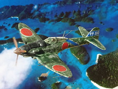 "1:72 Heinkel A7He2 (Allied codename ""Jerry""), aircraft '180' of the Imperial Japanese Navy's Tainan Air Group (台南海軍航空隊, Tainan Kaigun Kōkūtai); Formosa/Taiwan, October 1943 (Whif/modified Heller kit) (dizzyfugu) Tags: 172 heinkel he 112 he112 a7he a7he1 a7he2 ijn tainan group imperial japanese navy kaigun kōkūtai formosa 台南海軍航空隊 heller kit conversion hasegawa fine molds ha40 db601 engine inline swap whif whatif modellbau dizzyfugu fictional aviation grey green"