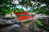 Cimetierre Bateaux Bono Morbihan Bretagne France (Bruno MATHIOT) Tags: boat bateau old lost rouge vert red green hdr photomatix outdoor 760d canon sigma 1020 wideangle ultragrandangle cemetry