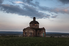 Landscape at sunset (Oleg.A) Tags: grass autumn saintnicolaschurch landscape russia church nature outdoor evening villiage ruined destroyed summer abandoned interior old ancient building twilight cathedral architecture orthodox sunset penzaregion field staryakutlya catedral landscapes outdoors staryykutlya penzenskayaoblast ru