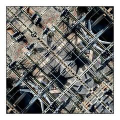 The Grid (GAPHIKER) Tags: hudson river railtrail rail trail dutchessrailtrail hudsonvalleyrailtrail hudsonvalley poughkeepsie highland newyork midhudsonbridge bridge walkway views pedestrian elevated power distribution lookingdown tile art surreal electricity
