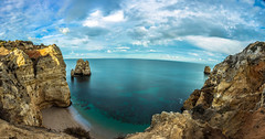 Relax and enjoy the view (Artur Tomaz Photography) Tags: algarve clouds green lagos pontadapeidade sky beach blue cliff exposition light rock sand sea water