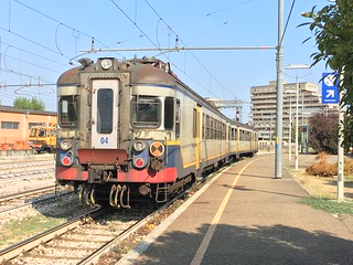 FER Unit Ale054.04 at Modena, forming a service to Sassuolo, 08-09-17.