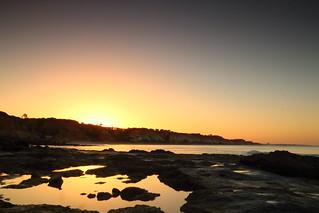 Rock pool sunrise