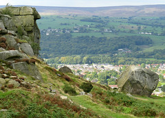 The famous Cow and Calf Rocks, Ilkley Moor, Yorkshire, England. (Nigel L Baker) Tags: rocks ilkley yorkshire moor