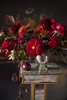 Dutch Old Master in Red (photoart33) Tags: flowers red autumn stilllife dahlia rose beech plum oldmaster art