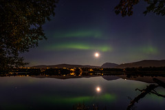 Prestvannet (John A.Hemmingsen) Tags: auroraborealis tromsø prestvannet mountains moon midnight nordnorge night northernlights landscape l