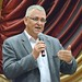 Demeter Zoltán, a térség fideszes országgyűlési képviselője beszél a Keresztény Értelmiségiek Szövetsége országjáró kerekasztal-beszélgetésének sajószentpéteri állomásán 2017. szeptember 20-án. (Fotó: Váli Miklós)