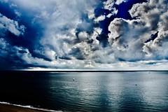 In the clouds.... (rienschrier) Tags: holland nederland vlissingen landschap luchten wolken clouds