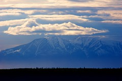 Early Light (Herculeus.) Tags: ak anchorage clouds country day haze ice landscape landscapes mountains outdoor outdoors outside silhouette snow spring trees 5photosaday sky mountain