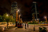 Night in the city....... (Dafydd Penguin) Tags: light trails slow shutter speed explore long exposure night shots after dark cityscape city urban town barcelona spain catalan harbourside people street raw nikon df nikkor 10mm af f28d