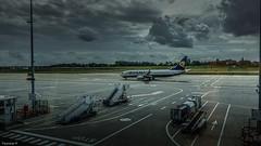 Charleroi Airport (YᗩSᗰIᘉᗴ HᗴᘉS +9 500 000 thx❀) Tags: charleroi airport charleroiairport fly avion sky clouds hensyasmine belgium belgique hdr 3exp