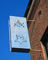 Masonic Lodge, Guntersville, AL (Robby Virus) Tags: guntersville alabama al fam masonic masons freemasons sign signage symbol fraternal organization