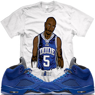 d9c9774d73bcc Air Jordan 5 Blue Suede sneaker tees shirts (XGEAR101) Tags  jordan air  retro