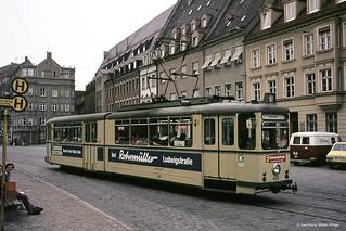 Augsburg Talbot Triebwagen 406 ex Aachen, 13.06.1975