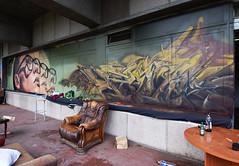 Sef   •  Hado (HBA_JIJO) Tags: streetart urban graffiti paris art france artist hbajijo wall mur painting aerosol peinture murale spray bombing urbain rehab2 letters lettrage writer lettring woman portrait lettres lunette sef01