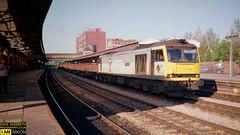 60018 (dave hudspeth photography) Tags: railway train nostalga diesel track transport britishrail iconic davehudspethgrey red blue gner crewe york newcastle