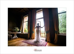 waiting for my love (Zino2009 (bob van den berg)) Tags: marriage waiting standing bride gown dress white love man woman celebration light inside old wood color grey day daylight carpet floor flowers party newlywed hochzeit bruiloft tobewed