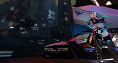 Traffic Stop (Kimiko Mazoku) Tags: insilico cyberpunk dystopia futurist gits bladerunner police imp scifi clone fabricant