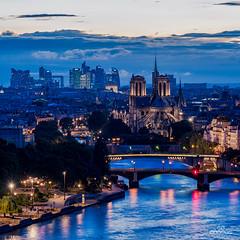 River Seine and Notre-dame (brenac photography) Tags: europe brenac brenacphotography d810 france nikon nikond810 paris îledefrance fr notredame river seine defense bluehour