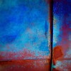 The Great Divide (StephenReed) Tags: thegreatdivide abstract art abstractart metal rust paint chippedpaint blue stephenreed nikond80