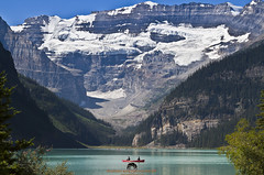 Lake Louise (Stephen Ball Photography) Tags: lakelouise lake banffnationalpark rock rocks rockformations canoe glacier glacial glaciallake alberta canada canadian mountains landscape rocky rockymountains beautiful amazing awesome iconic canon canon5dmkiii5d canoneos5dmarkiii canon24105mm wwwstephenballphotocom stephenballphotography stephenball stephenballphoto