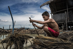 Mandaue Brooms Factory - Our kids (Mio Cade) Tags: broomfactory broom factory mandaue cebu philippines boy children child kid childlabor labour work water dirty filthy hard sponsor education skill empowering