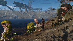 Fallout4 - Surrounded ... (tend2it) Tags: fallout4 fallout 4 rpg game pc ps4 xbox screenshot screenarchery reshade postprocessing injector nuclear apocalyptic future cosmo squid ms abominations mod monster elize main character spraynpray nanosuit nukacola suit
