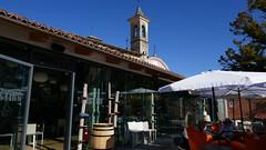 Cafe and spire, Barolo (goforchris) Tags: italy holidays hf hfholidays walkingholidays barolo
