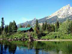 Jenny Lake Cabin, Grand Teton 2011 (inkknife_2000 (8 million views +)) Tags: grandteton wyoming peaks mountains jennylake crags dgrahamphoto america clearday usa landscapes logcabin