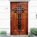 Voordeur met kruis