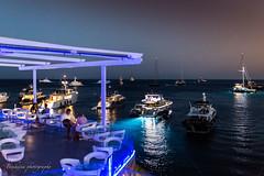Mykonos 2 (Bouhsina Photography) Tags: mykonos nuit lumière bouhsina grèce bouhsinaphotography mer egée bateaux yacht terrasse restaurant café canon 5diii été 2017 petasos hotel couleur