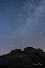 Fireball XL5 (http://www.richardfoxphotography.com) Tags: perseid perseids meteor shower meteors dartmoor yar tor yartor granite nightphotography nightsky stars andromeda galaxy milkyway