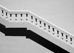 Stairs and Shadow (FotoGrazio) Tags: waynegrazio waynesgrazio architecture art artofphotography beautiful blackandwhite carpentry composition constrast contrast design fineart fotograzio geometry lovely minimalism minimalist monochrome pattern phototoart railing shadesofgray shadow simple simplistic stairs texture