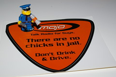 WHY YOU SHOULDNT DRINK AND DRIVE (kingkong21) Tags: am640 mojo radio decal chiefwiggum lego thesimpsons