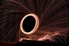 Oblivion (Prestidigitizer) Tags: onblack sunshinecoast burning steelwool flammable inflammable spinning beach fire sparks pentaxk3 pentaxda50135mm