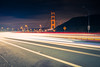 famous Golden Gate Bridge, San Francisco at night, USA (Luz Rosa Photography) Tags: gatebridge america architecture bay big ca cable california cars city died famous fence golden headlands lights longexposure marin night ocean ray red sanfrancisco sea structure suspension traffic trafic usa water