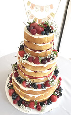 Tall Naked Wedding Cake