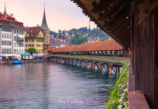 Lucerna. Kapellbruke Bridge